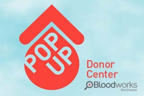 Graphic of blood drop for donation pop up