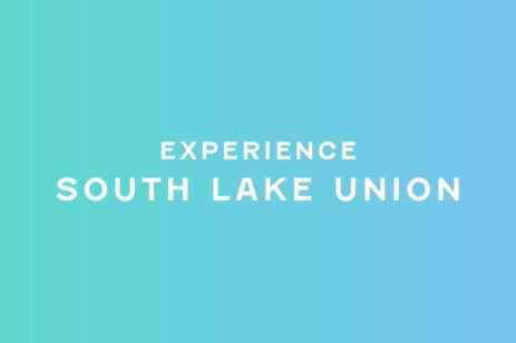 Experience South Lake Union blue graphic.