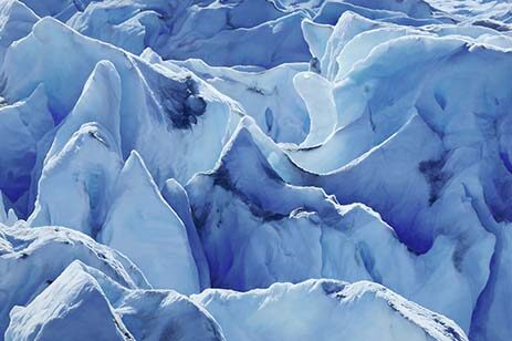 Pastel drawing of a glacier