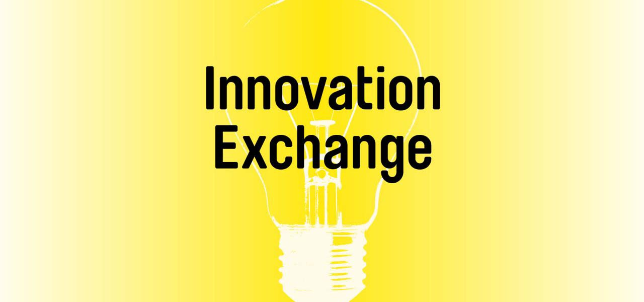 Yellow graphic with a white lightbulb and event title.