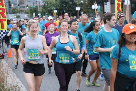 Runners participating in a race.
