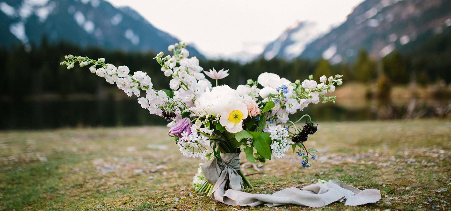 Image of bouquet outside