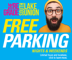 Free parking nights and weekends