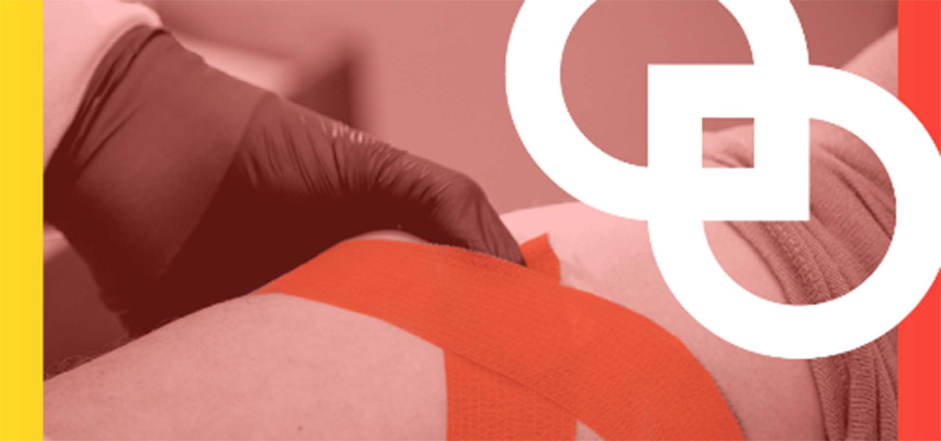Graphic of an arm being wrapped with tape after donating blood.