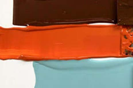 3 streams of color created with a paint brush